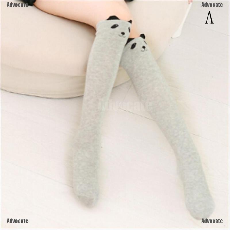 Children Kids Long Leg Warmer Stockings Knee High Socks Cotton Sock Stockings
