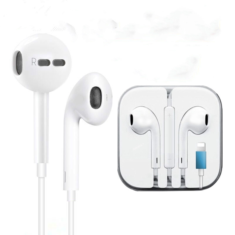 Wired Bluetooth Earphones With Microphone In Ear For Iphone 8 7 Plus X Xr Xs Wired Stereo Earbuds Gifts Headphone Shopee Philippines