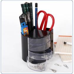 Office Bin Desk Organizer Set Stationary Tidy Letter Trays Holder Pen