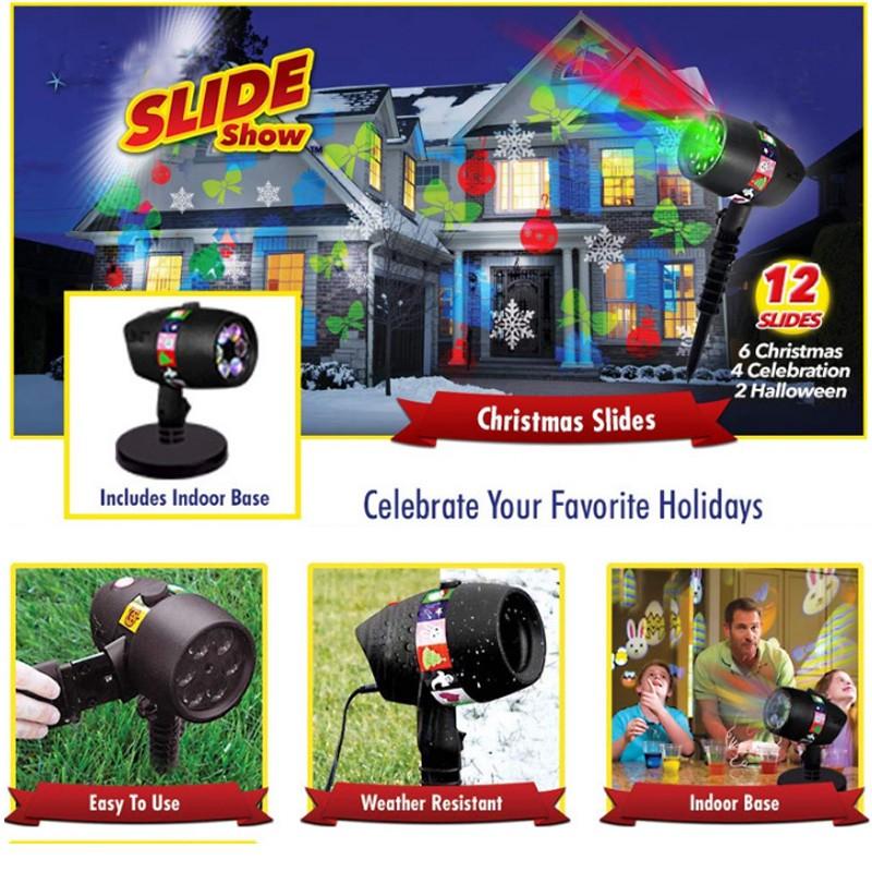 12 Slides Star Shower Slide Show Laser Light For Christmas Lights Shopee Philippines