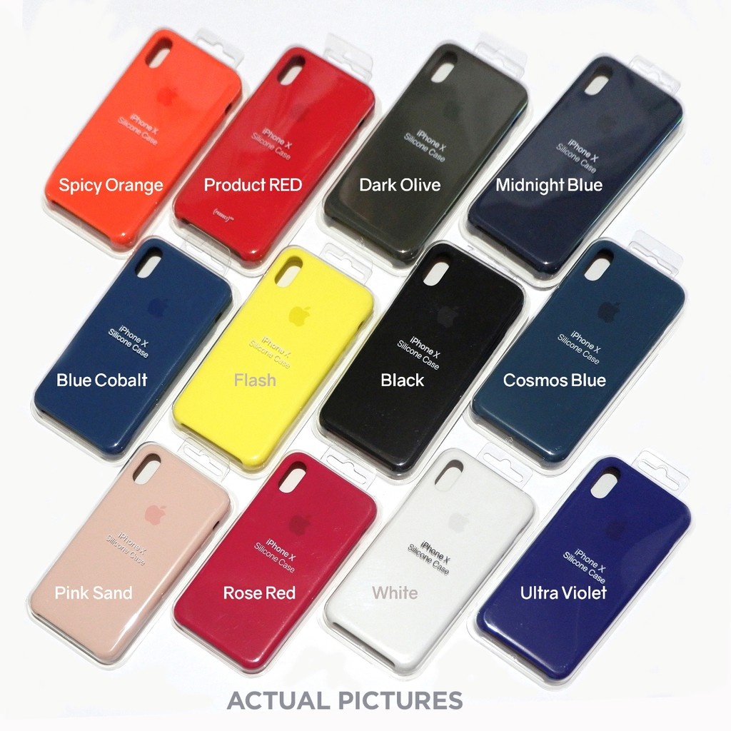 new styles 36c05 88dab Apple iPhone X Official Silicone Cases