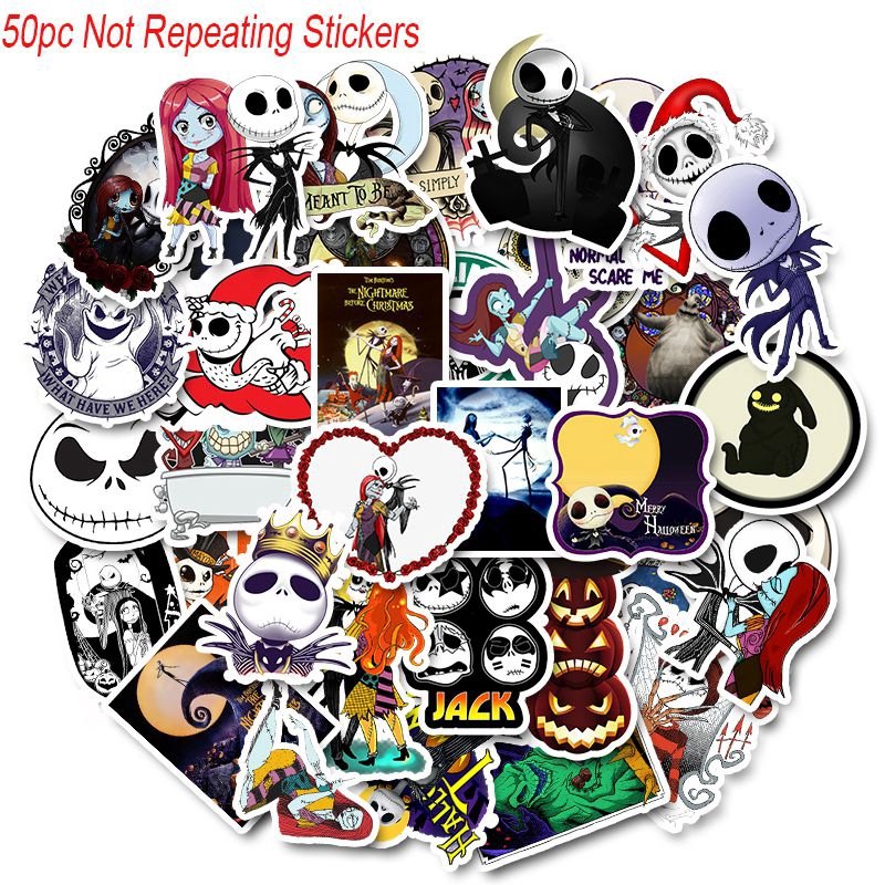 Nightmare Before Christmas Vinyl Laptop Skateboard Stickers bomb Luggage Decals