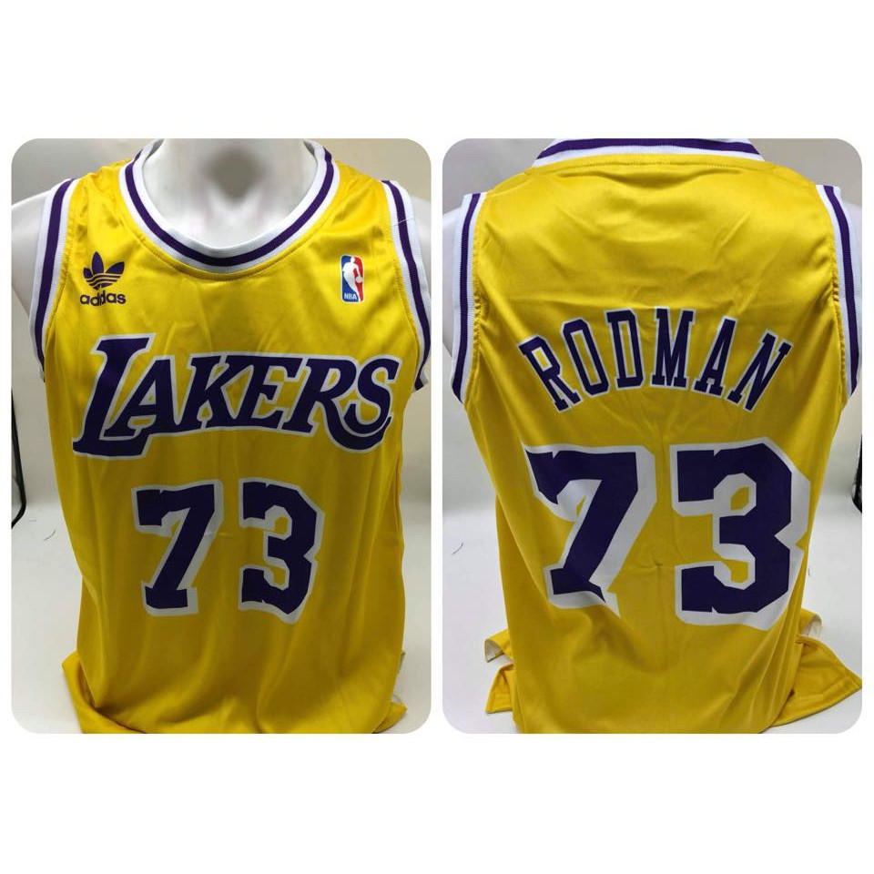 cheap for discount 00be6 7e1b3 Rare! DENNIS RODMAN #73 LAKERS Adidas Retro NBA Full Sublimationw Jersey!  Color: Yellow