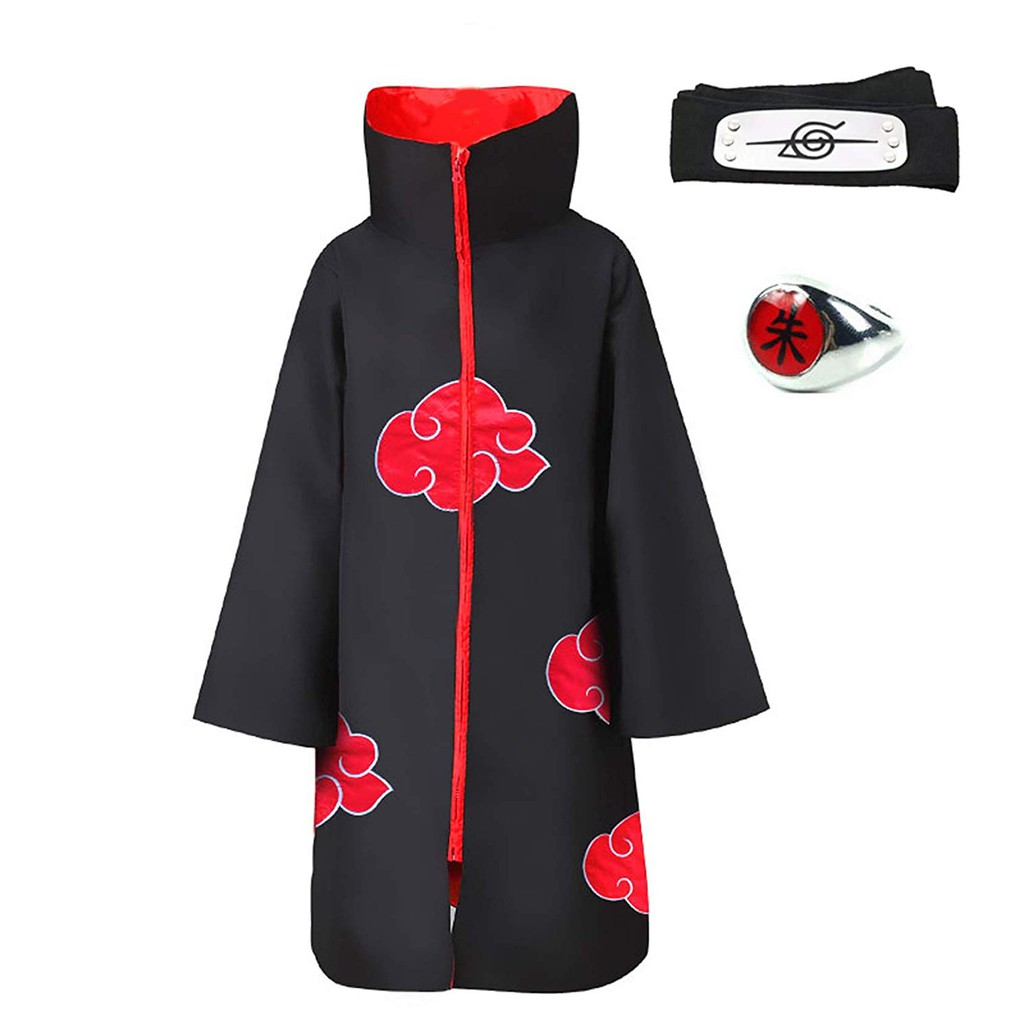 2 pcs Naruto Uchiha Itachi Black Leaf Village Konoha Ninja Headband Anime USA
