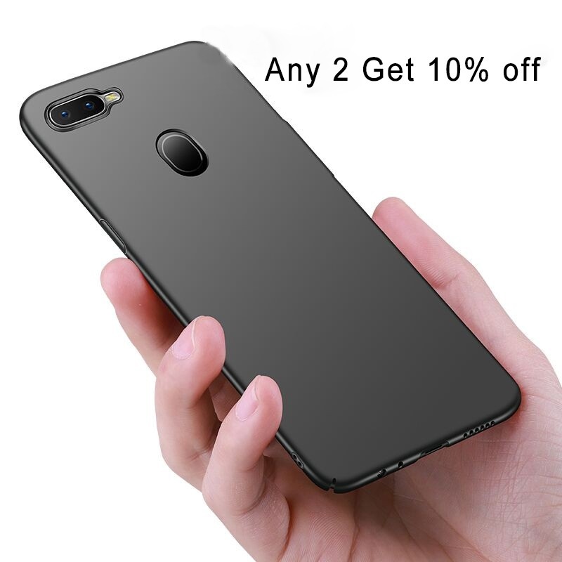 OPPO A5s Phone Case Hard PC Matte Anti-Slip Phone Cover(Free IRing)