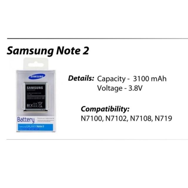 Original Samsung Galaxy Note2 Battery GT-N7100 N7100 Note 2