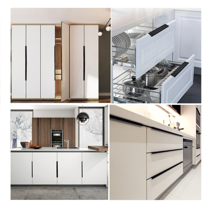 Lidu Aluminum Alloy Door Pull Kitchen Cabinet Cupboard Wardrobe Shopee Philippines
