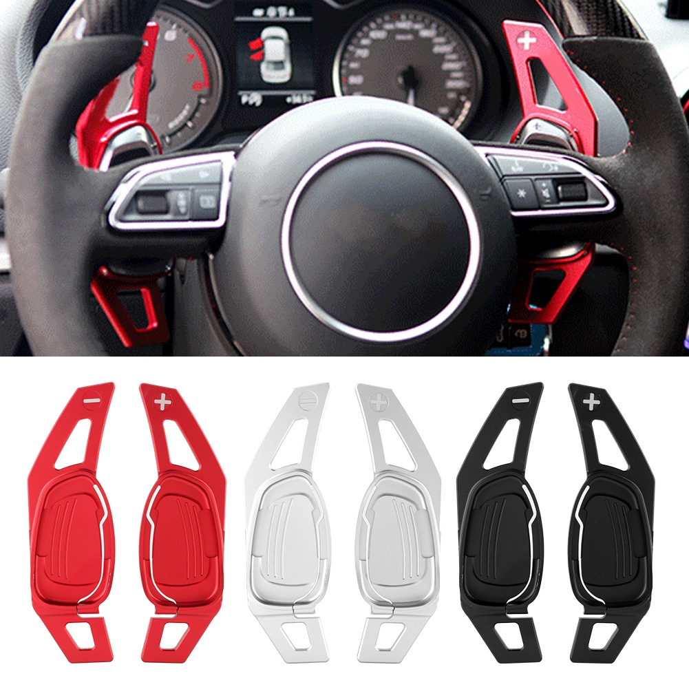 Steering Wheel Paddle Car Steering Wheel Shift Paddle Shifter for Audi A5 S 3 S5 S6 SQ5 RS3 RS6 RS7 Aramox Steering Wheel Paddle Shifter Black