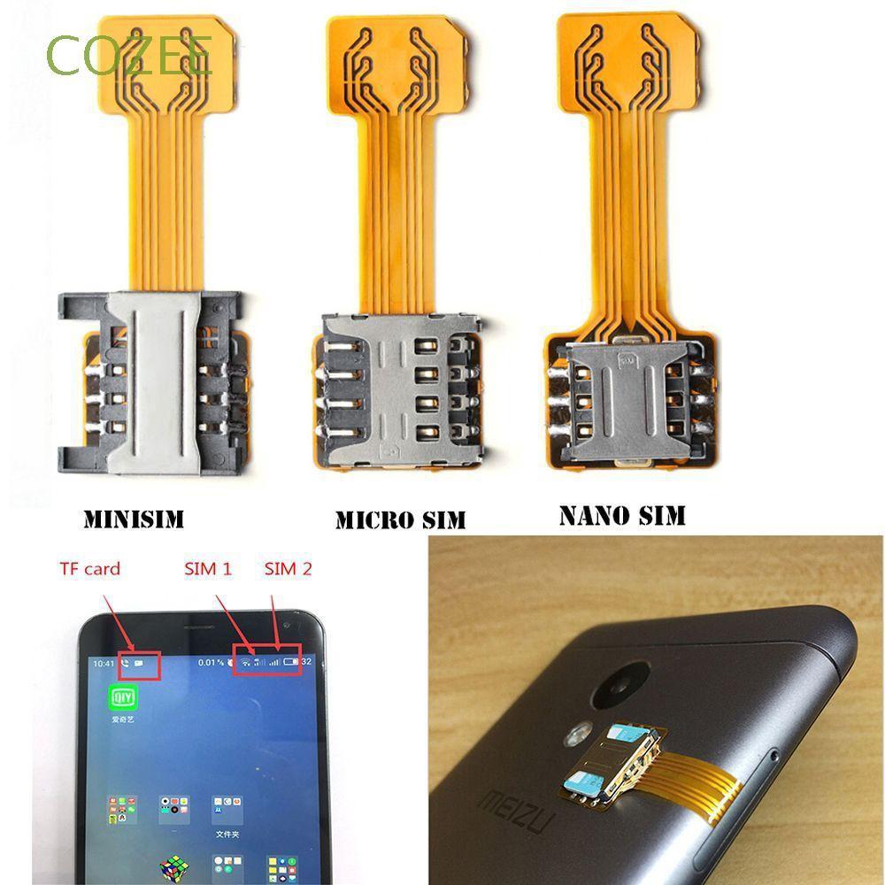 extender dual sim card adapter nano cato hybrid sim slot