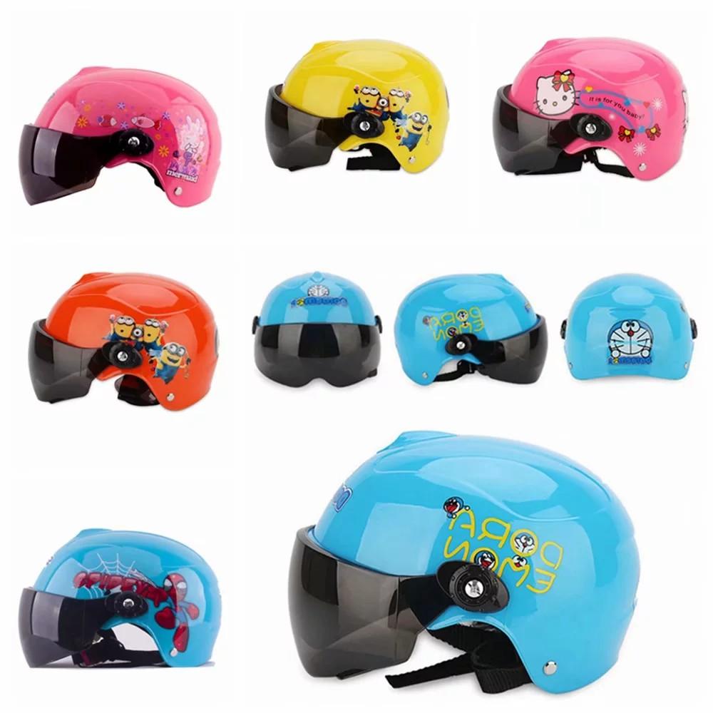 Kids Motorcycle Helmet Cartton Bike Half Helmet Skating Helmet 5 Color Helmet