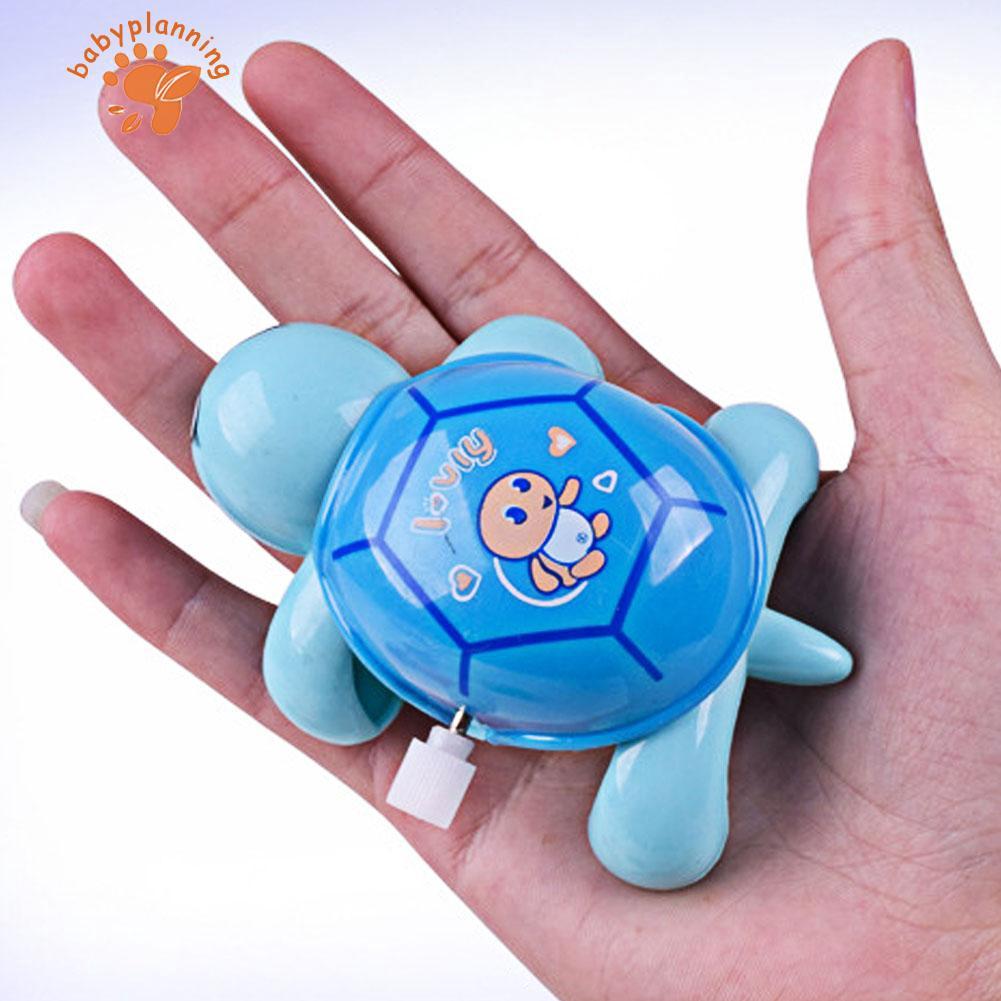 Clockwork Tortoise Toddler Baby Kids Little Turtle Toys Wind-Up Educational Toys