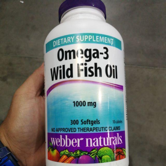 Webber Natural Omega 3 Wild Fish Oil 1000mg 300 Softgels Shopee