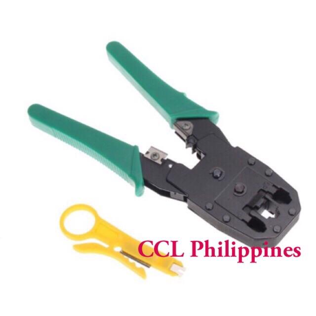 Network RJ45 CAT5 RJ11 RJ12 LAN Cable Wire Crimper Crimp Plier Strip Tool LJ
