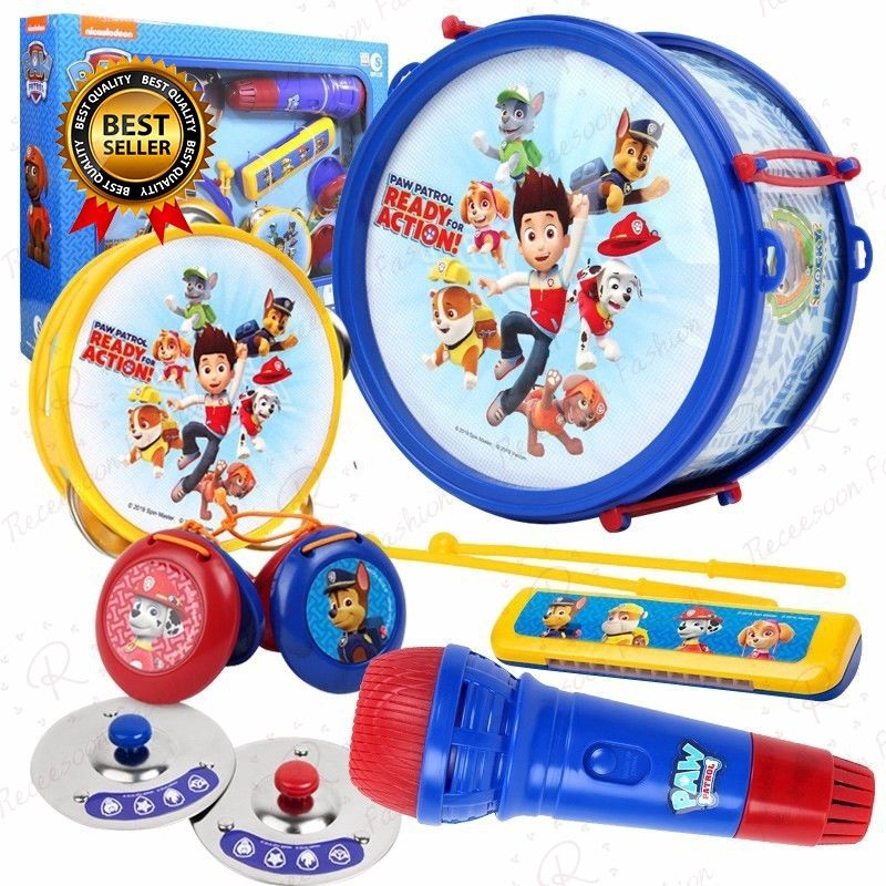 Paw Patrol Musical Instrument Set Kids Early Learning Toys ...