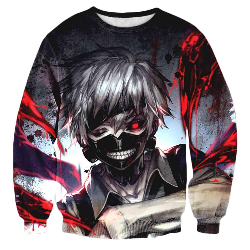 Manga & Anime Sport-kapuzenpullis & -sweatshirts Tokyo Ghoul Cosplay 3d Anime Kapuzen Sweatshirt Langarm T-shirt Hoodie Pullover