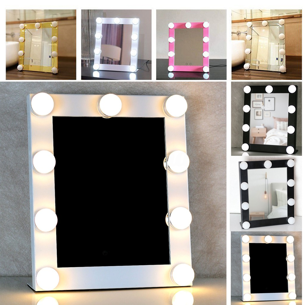 Vanity Lighted Makeup Mirrors With Dimmer Stage Beau Wl