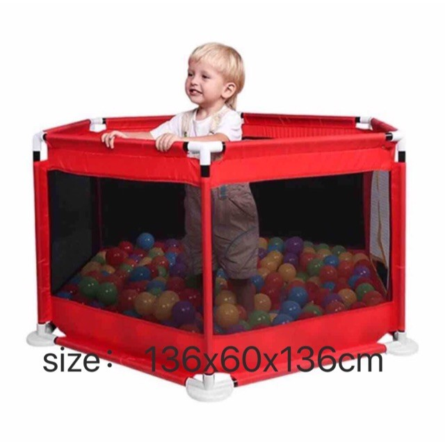 Large Space Baby Play Yard Not Includes Balls Red Portable Indoor Outdoor Baby Playpen Toddlers Children Safety Ball Pit Fun Activities Popular Toys