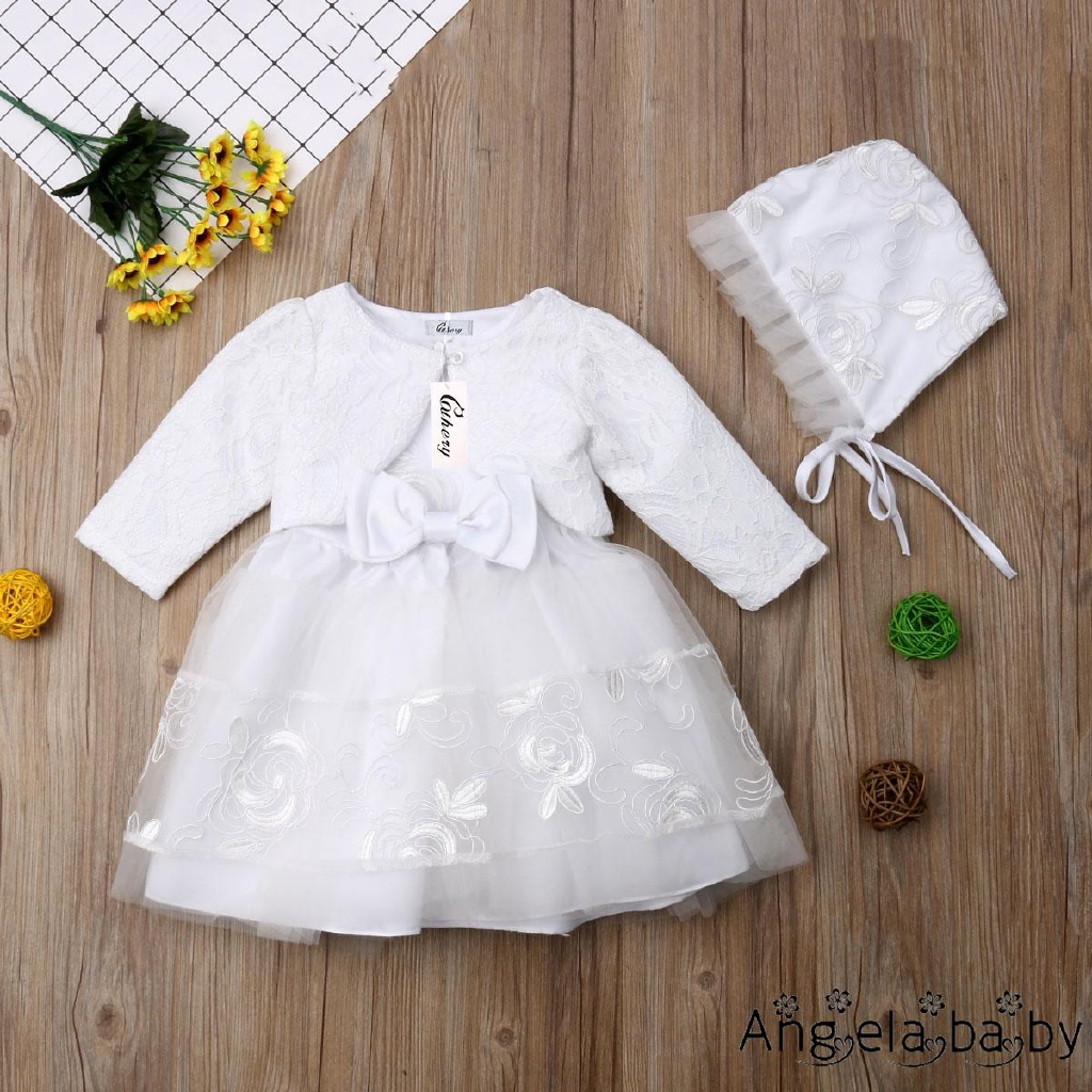 6be1fdab5e9bf AYH-0-18 Months Baby Girls Ivory Lace Party Christening
