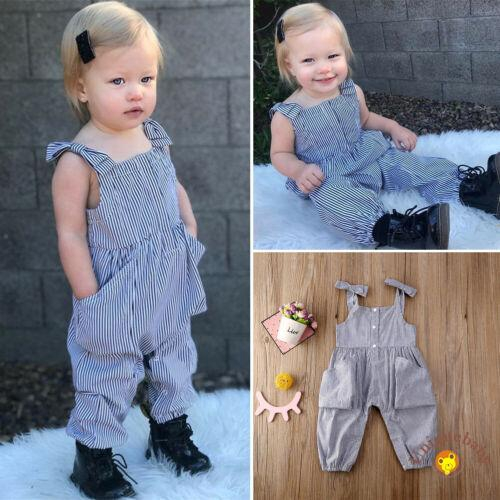 Toddler Newborn Baby Girl Bowknot Short Sleeve Romper Jumpsuit with Headband Kids Bodysuit Overalls Outfits Set