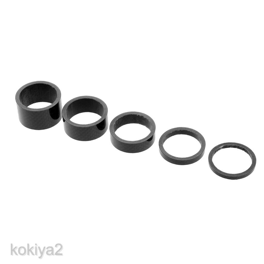 "SINGLE Carbon headset stem spacer 1 1//8/""  5 mm New light fiber spacers"