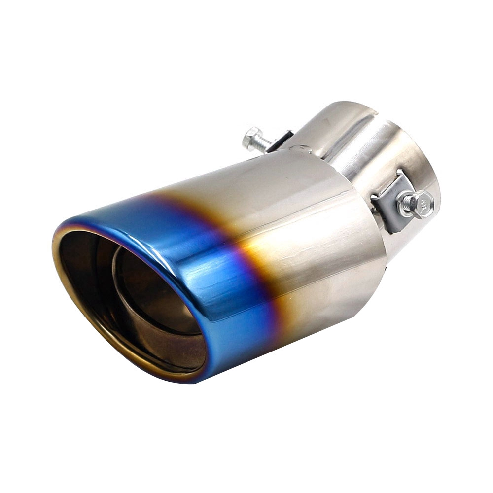 1* Universal Car Rear Round Exhaust Pipe Tail Throat Muffler Tip Stainless Steel