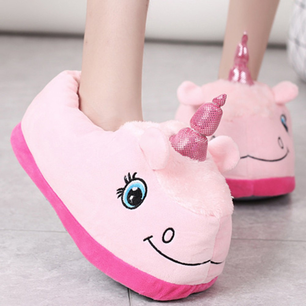 7a28dd11245 Couple Winter Pig Indoor House Slippers Anti-slip Home Warm
