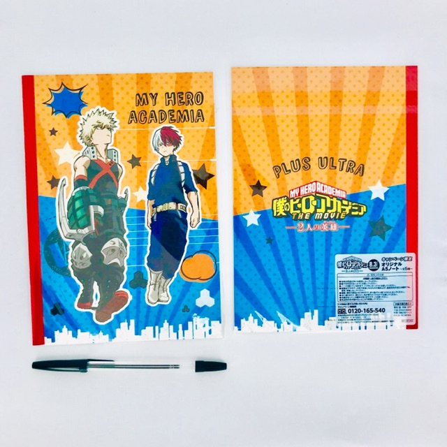 My Hero Academia Bakugo Todoroki Notebook BNHA Boku No Hero