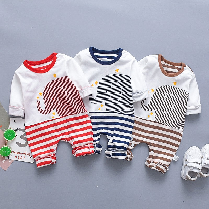 Cartoon Animal Tigger Baby Boys Newborn Kids Children Rompers Bodysuits Clothes