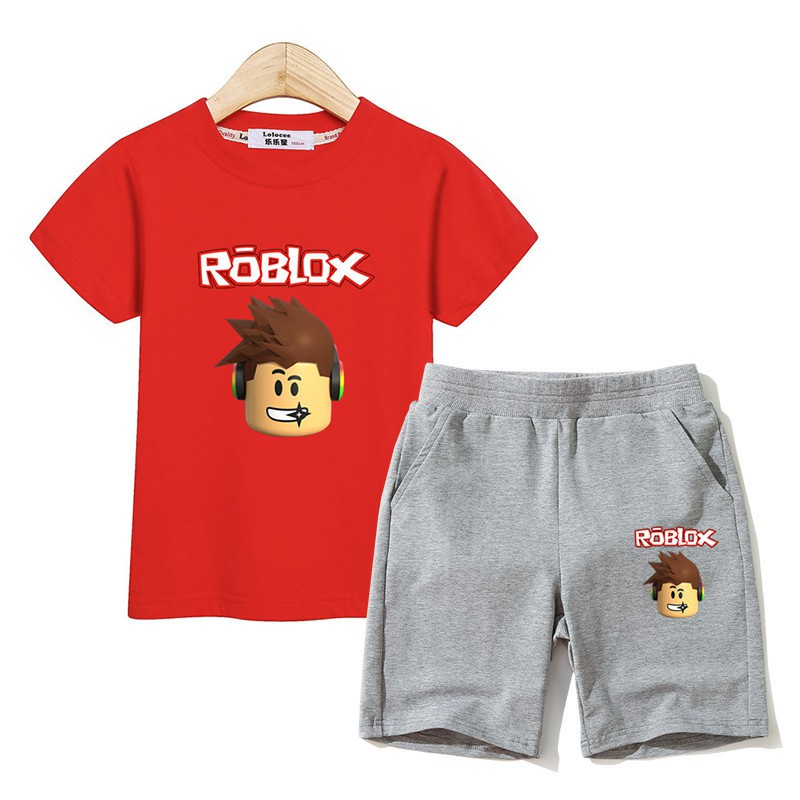 Red Suit Roblox Kids Fashion Suit Roblox Clothing Boys T Shirt Pants Sets Boy Costume 2pc Set Shopee Philippines