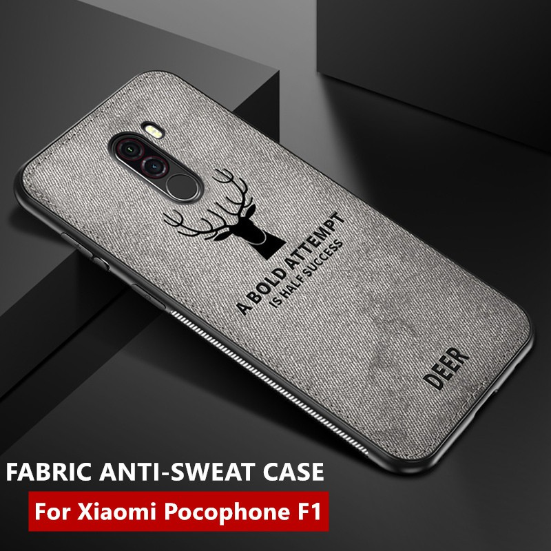 the best attitude 2b5aa ad064 Xiaomi Pocophone F1 Back Cover Cloth Full Protection Cases