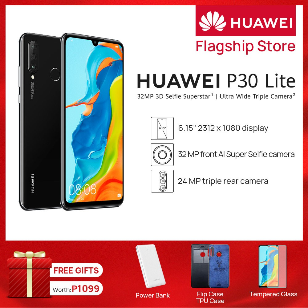 HUAWEI P30 Lite 6GB +128GB 24M Triple Camera 6 15 inches FHD 9V/2A Quick  Charger Smart Phone