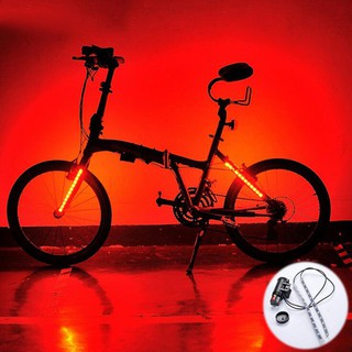MTB Road Bike Bicycle Fork Strip Light Bar 12 LED 8 Modes Waterproof Wheel