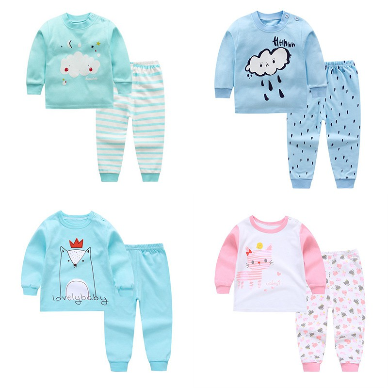Baby Boys Girls Underwear Pajamas Clothing Set