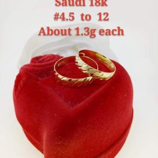 9e1afb99c5 18k Saudi Gold Couple Ring | Shopee Philippines