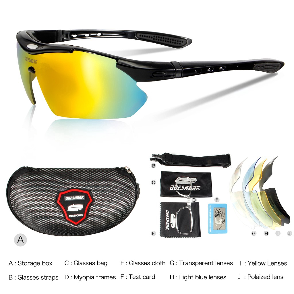 0afc1d724193 5 Lens Polarised Cycling Sunglasses For For Fishing Driving | Shopee  Philippines