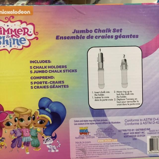 Shimmer /& Shine Jumbo Chalk Set