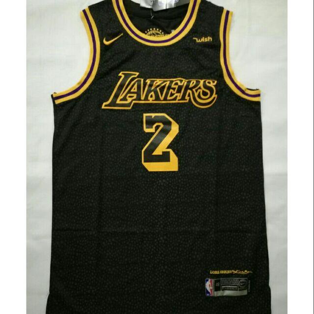 a59f023f8726 Lonzo Ball  2 Los Angeles Lakers Black Mamba Swingman Jersey ...
