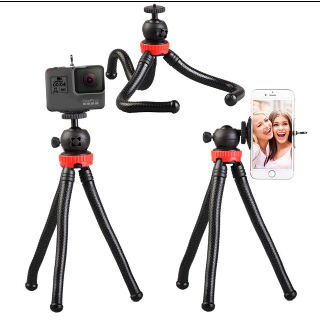 Mini Small Tripod Selfie Stick Grip Stand Holder for Camera Phone Black Mj