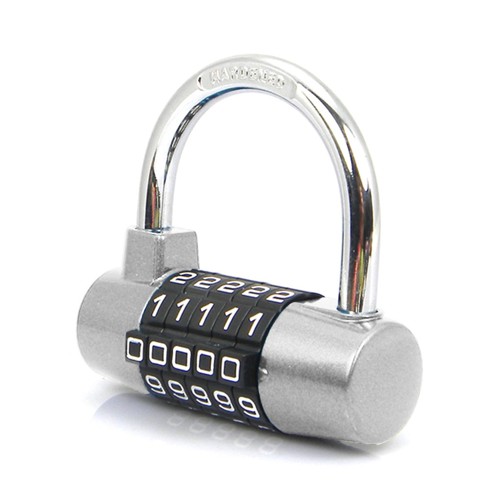 YF20621 5 Digits Combination Pad Lock - Silver | Shopee