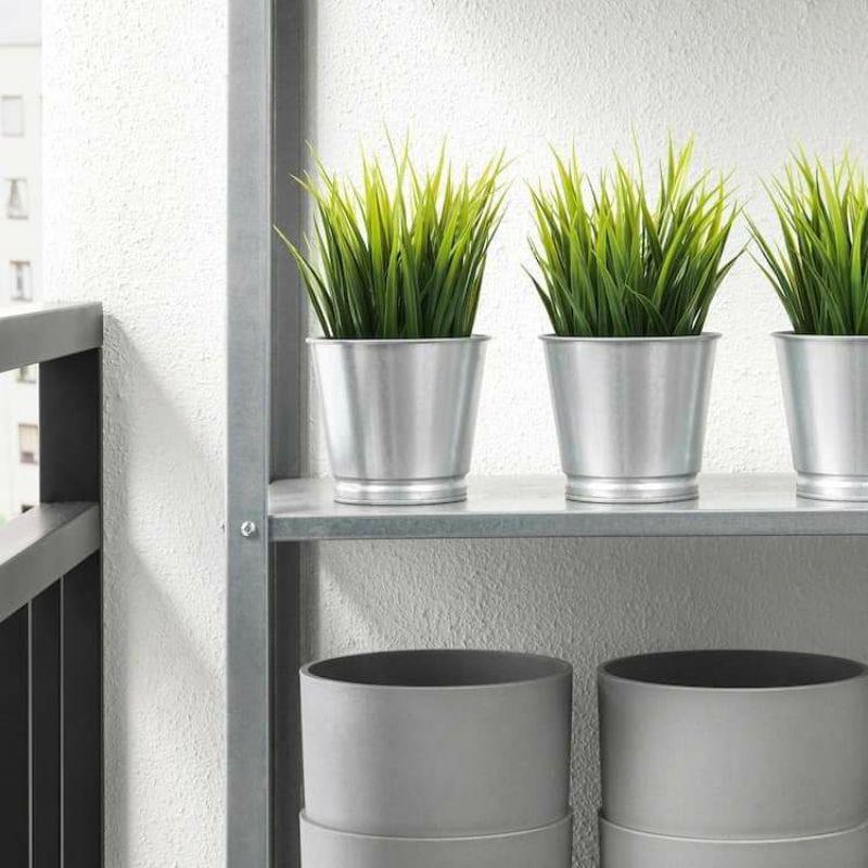 Ikea Plant Pot Silver Flower Pots And Planters Garden Indoor Plants Gardening Authentic Cod Shopee Philippines