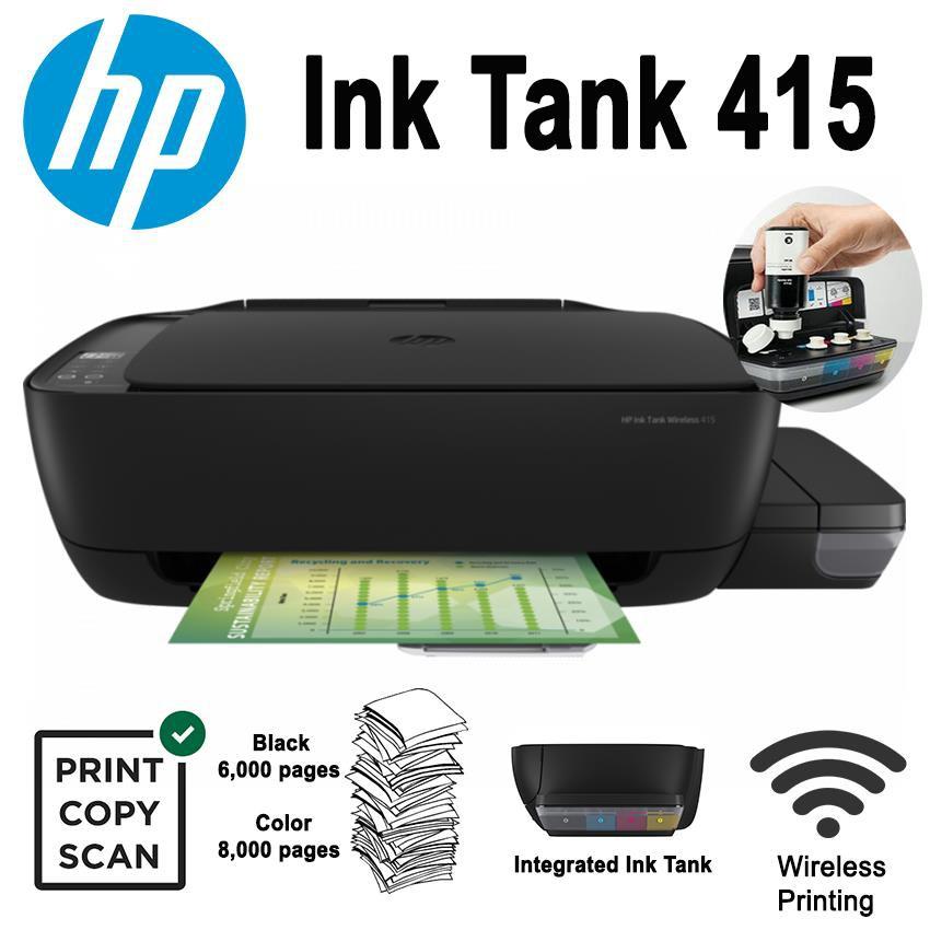 Printer HP Print, Copy, Scan, Wireless Ink Tank 415 CISS