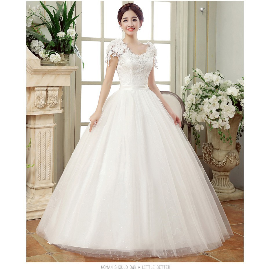 Wedding Dresses White Romantic Wedding Gown Fashionable