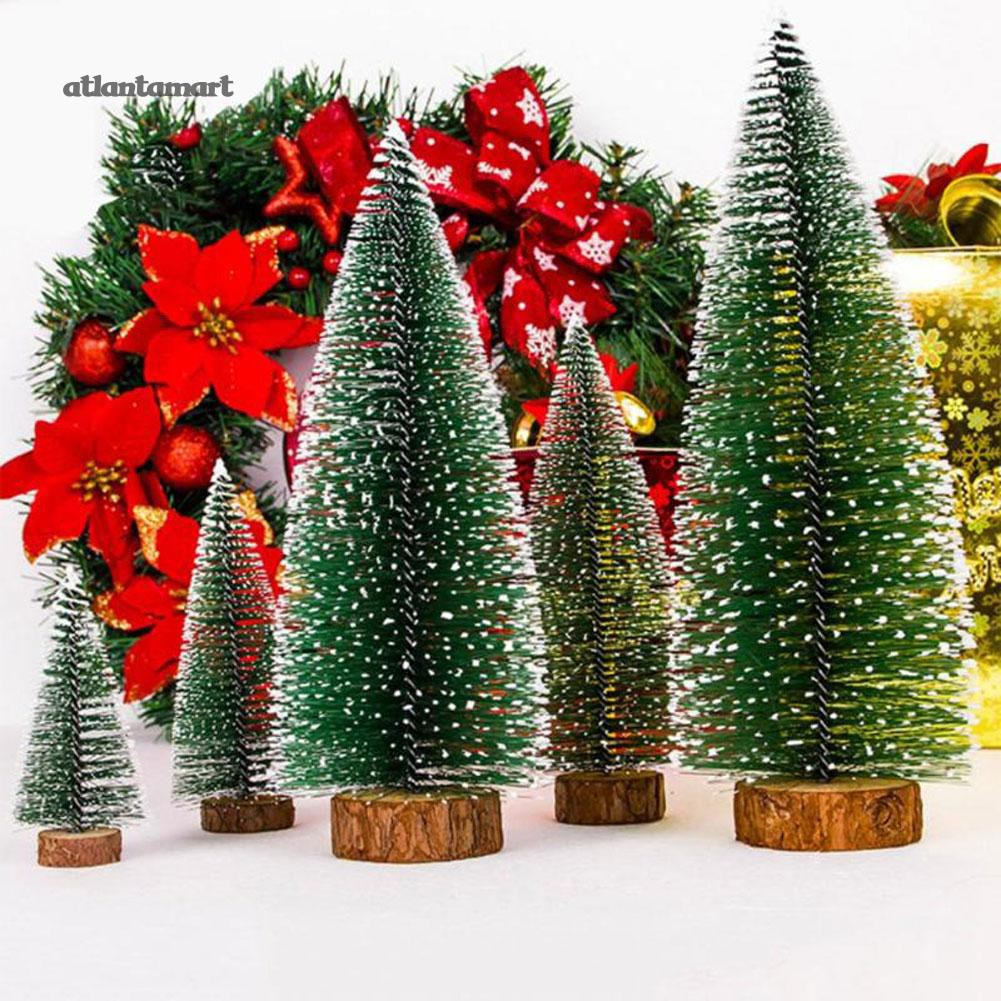 Types Of Artificial Christmas Trees.Atl Mini Snowy Artificial Christmas Tree Home Xmas Party Desktop Window Decoration