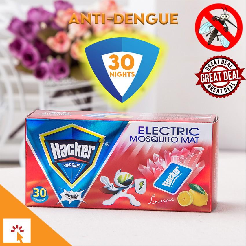 Original Hacker Mosquito Mat 30 Pcs Anti Dengue Lemon Scent Shopee Philippines