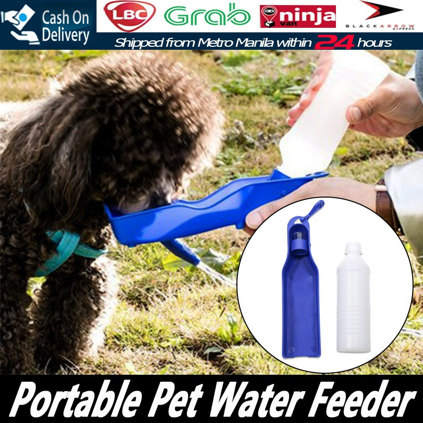 1PCS 500ml Portable Pet Water Feeder Dog Cat Drinking Bowl Bottle Travel  drinker Feeding Bowl