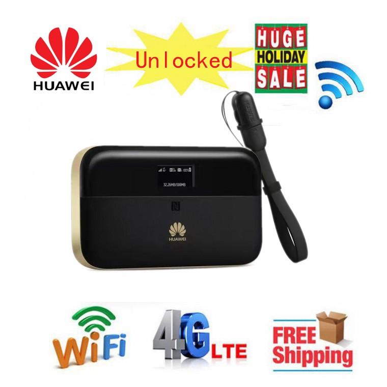 Huawei WiFi 2 Pro E5885 4G LTE FDD TDD Wireless WiFi Router 6400mAh Power  Bank