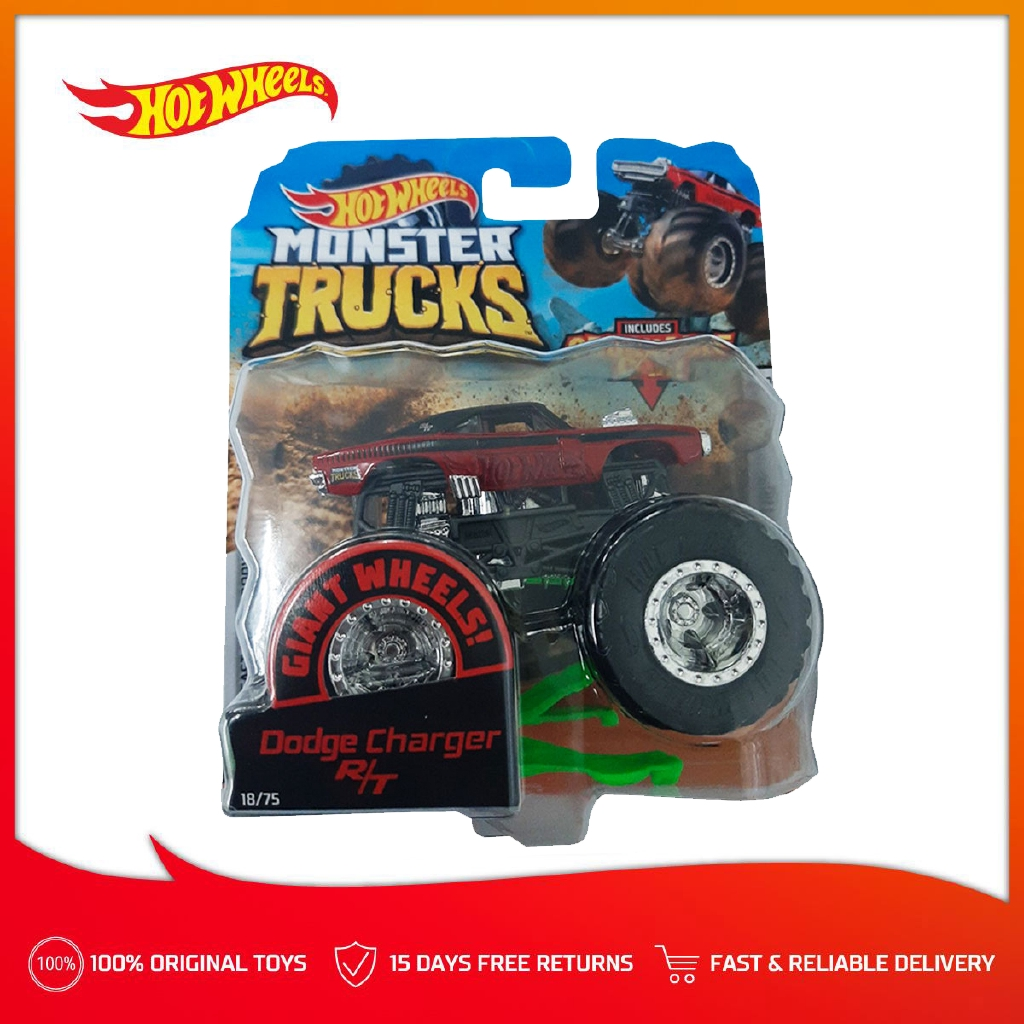 Hot Wheels Monster Trucks 1 64 Dash C Dodge Charger R T Red Shopee Philippines