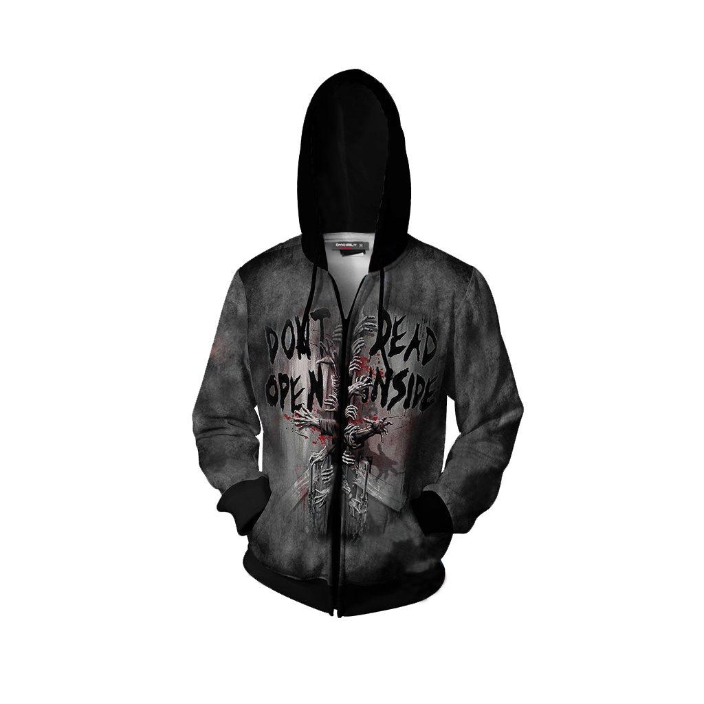 The Walking Dead 3D Print Zip Up Hoo Costume Adult Halloween Party Cosplay Jacket Coat