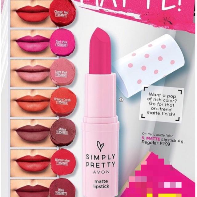Avon Simply Pretty Matte Lipstick Shopee Philippines
