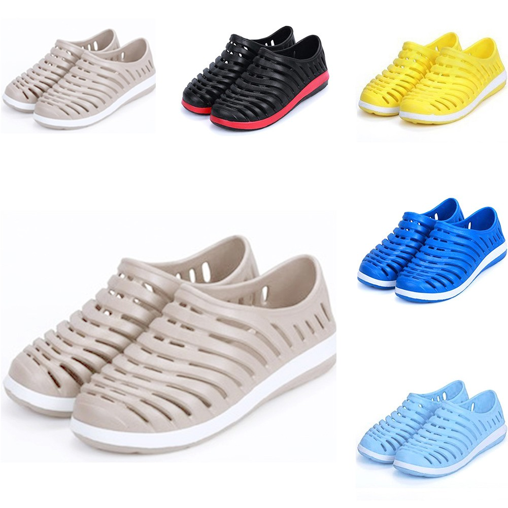 b474ca90af4499 Unisex Womens Mens Hollow Out Breathable Sandals Couples Hole Shoes Beach